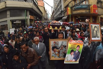 Bolivia despidió con cariño a Remedios Loza