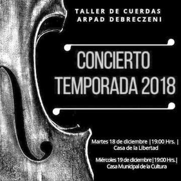 Taller de cuerdas Arpad Debreczeni ofrece concierto