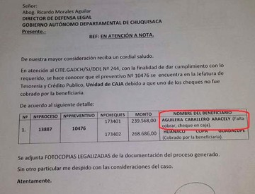 Parlamentaria pide informe sobre caso Aracely Aguilera