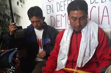 Se instala segundo piquete de huelga en Sucre en rechazo a la repostulación de Evo
