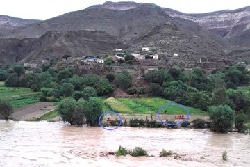 Desborde en Las Carreras  afecta a 9 comunidades