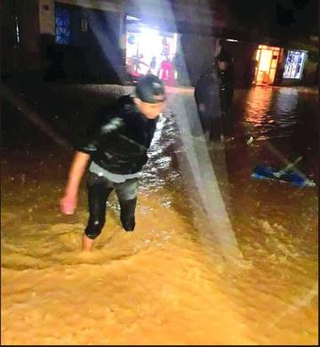 Reportan 266 familias afectadas por las lluvias