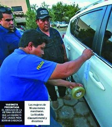 Entregan lavada vagoneta  utilizada por violadores