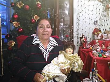 Gladys Campos y sus esculturas religiosas