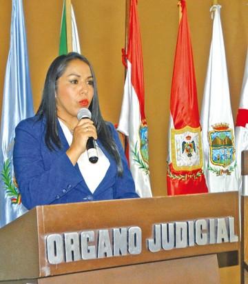 Magistrada Garrón asume presidencia del Agroambiental