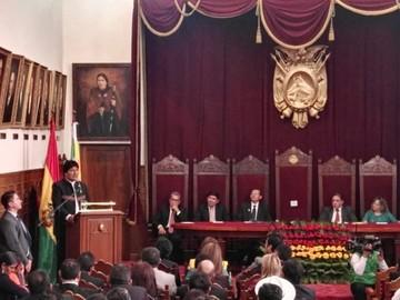 """TSJ pide incluirse en programa """"Bolivia cambia, Evo cumple"""", y se estrella contra la prensa"""