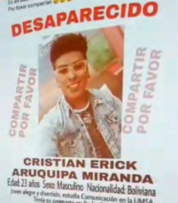 La Paz: Universitario finge su desaparición