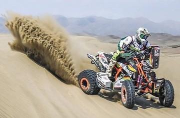 """Nosiglia, en el """"top ten"""" del rally en la categoría quads"""