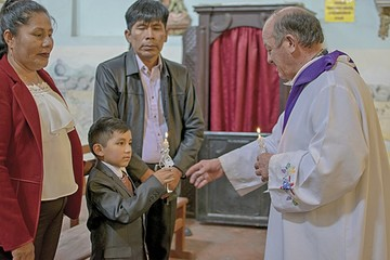 El bautizo de Ángel y Valeria