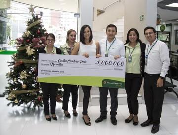 Cochabambina gana premio de Bs 1 millón