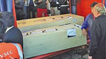 Llegan restos de familia descuartizada en Brasil