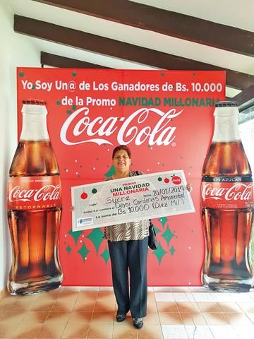 Coca-Cola regaló 2 millones de bolivianos  con su promoción navideña
