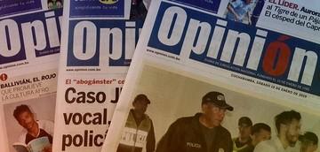 Amenazan con explotar una bomba en el diario Opinión