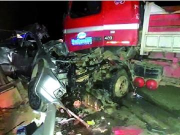 Cinco personas fallecen en dos hechos de tránsito