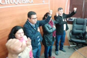 Reeligen a Elmar Callejas como presidente de la Brigada Parlamentaria de Chuquisaca