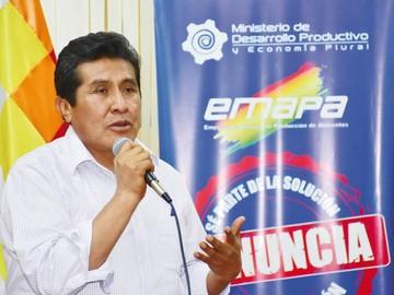 Ex ministro Eugenio Rojas, nuevo gerente de Emapa