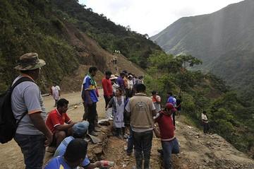 Reportan entre cinco y siete desaparecidos en el segundo deslizamiento de Caranavi