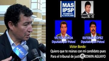 Denuncian a Borda por supuesto tráfico de influencias a favor del magistrado Aguayo