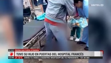 Mujer da a luz en las puertas de un hospital en Santa Cruz