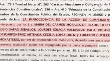 Juez rechaza acción contra la repostulación de Evo Morales