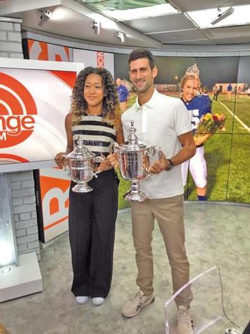 Djokovic y Osaka lideran