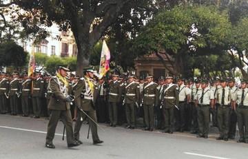 Nuevo comandante se presenta ante la tropa policial