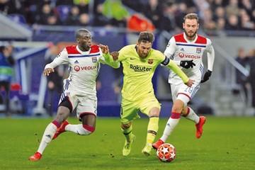 El Barça no pudo hacer goles en su visita al Lyon