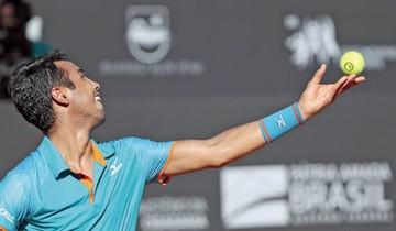ATP 500  El boliviano Hugo Dellien no pudo superar los cuartos de final ayer en Río.