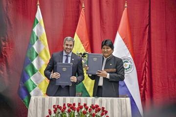 Morales y Abdo concretan la venta de GLP a Paraguay