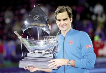 El suizo Roger Federer consigue su título 100