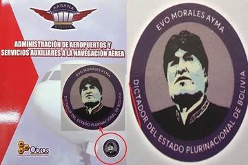 """Aasana distribuye carpetas en las que se llama """"dictador"""" al presidente Evo Morales"""