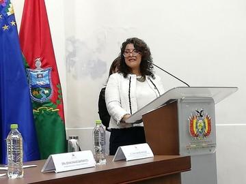Tania Sánchez jura como Directora del Servicio Plurinacional de la Mujer