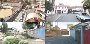 En Sucre hay 4 calles cortadas, además del pasaje Gandarillas