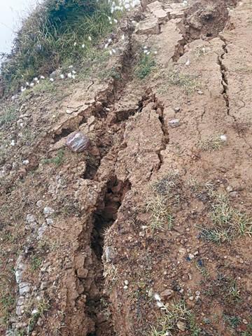 Sunchu Tambo en alerta por mega deslizamiento