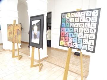 Cinco artistas exponen su talento en una muestra