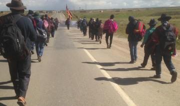 Marcha en defensa de territorios ancestrales se acerca a La Paz