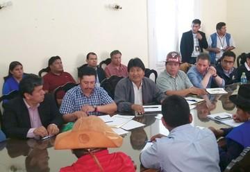 Evo delinea su campaña en Chuquisaca