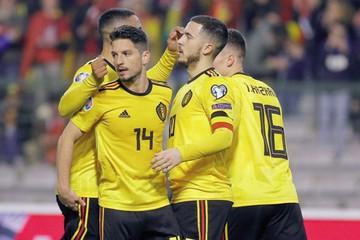 Hazard levanta a Bélgica