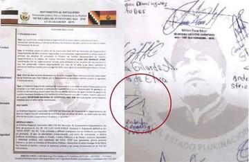 Vuelve la palabra dictador a un documento del MAS