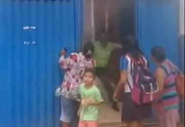 Incendio en un colegio causa pánico en Cobija