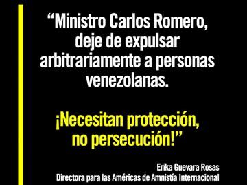 Amnistía Internacional exige a Bolivia que detenga expulsión de venezolanos