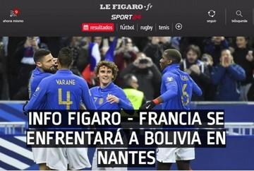 Bolivia visitará a la campeona del mundo, según medios franceses