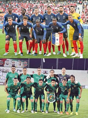 Francia vs Bolivia Sí, ya es oficial