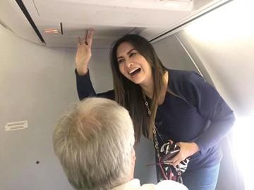 Myriam Hernández no pasó desapercibida por la Capital