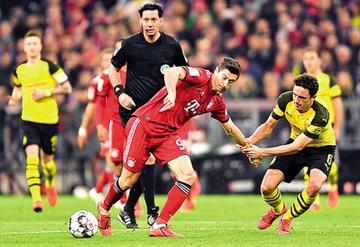 Bayern Múnich  golea al Borussia  y es el nuevo líder
