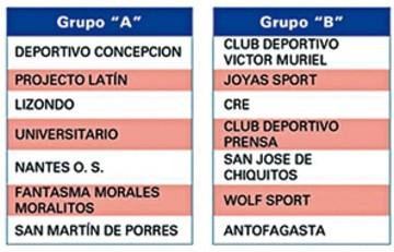 La Liga de Futsal conforma series para torneo 2019