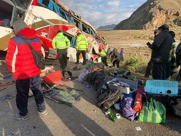 Vuelco de bus en ruta Oruro-Potosí deja siete fallecidos