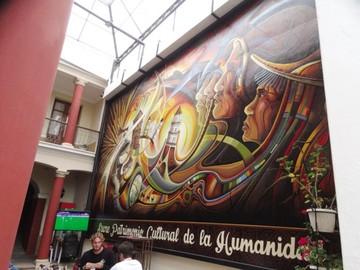 """""""Lazos de identidad"""", mural de Villa Oropeza"""