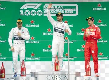 Hamilton gana la carrera 1.000 de la formula uno