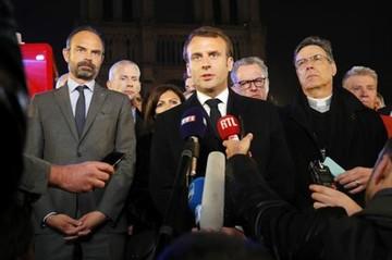 Macron promete reconstruir Notre Dame y dice que se evitó lo peor